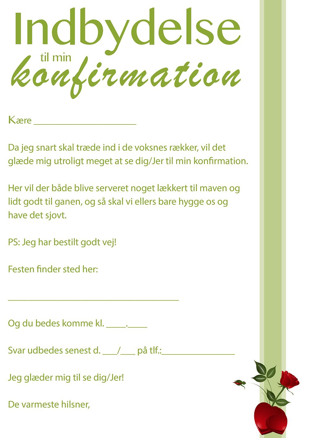 Hvad skriver man konfirmationskort Tekst i
