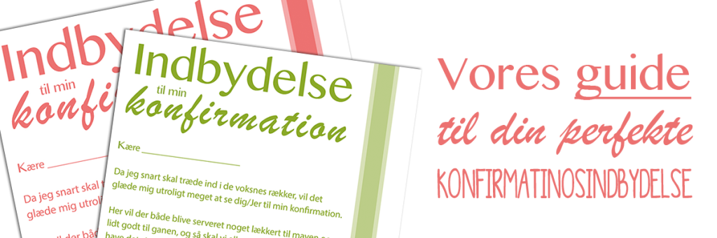 guide til konfirmationsindbydelse
